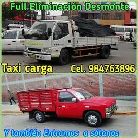 SERVICIO DE TAXI CARGA Y MUDANZAS CHICAS // TAMBIEN BRINDO SERVICIOS DE ELIMINACION DE DESMONTE Y RECOJO DE ESCOMBROS