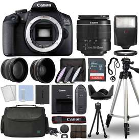 Canon Eos 2000d + Canon Ef-s 18-55mm F/3.5-5.6 Kit