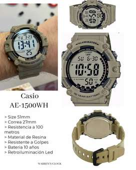 Reloj Casio Illuminator Bateria 10 años