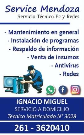 REPARACION DE PC Y REDES A DOMICILIO MENDOZA