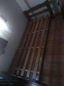 Cama de 1 plaza, madera de pino