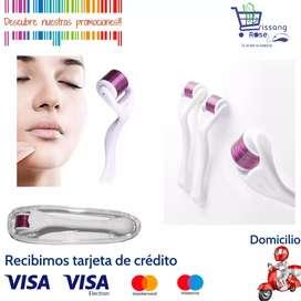 Dermaroller Mesorroller Micro-Agujas 1.0mm Limpieza Facial, Alopecia