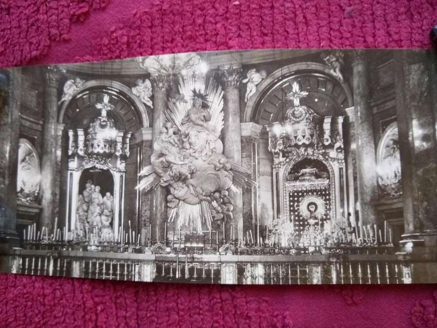 postal antigua de ZARAGOZA --BASILICA de EL PILAR-- 9 X 22,5 0