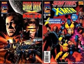 COMICS  X-MEN STAR TREK 1,2 CONTACTS