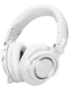 Almohadillas blancas para Audio technica ath-m50x, m40x, m30x