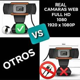 Webcam 1080p REAL Full Hd Con Microfono Camara Web Conferencias