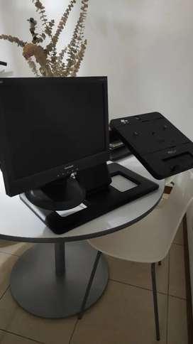 "Base portátil + monitor 17"""