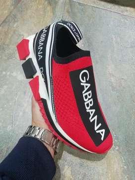 Zapatillas Dolce & Gabbana Rojo Para Dama