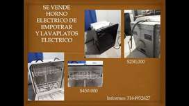 Lavaplatos eléctrico y horno eléctrico