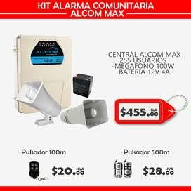 alarmas comunitarias mpr2/alcom max/kit alarma comunitaria
