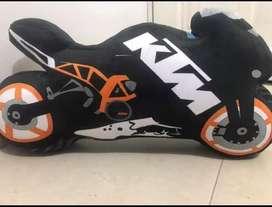 Moto de peluche diseño KTM