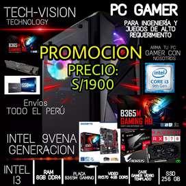 PC GAMER INTEL I3 9VENA GENERACION