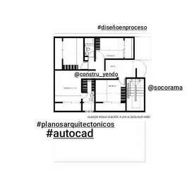 Elaboracion de planos arquitectónicos.  Diseño. Instalaciones hidrisanitarias.