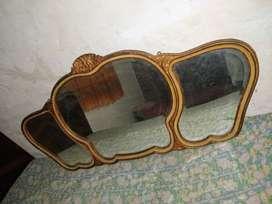 espejo triptico biselado comedor frances de 150x70 hefmoso