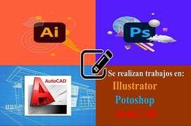 Trabajos en Illustrator-Photoshop-Autocad
