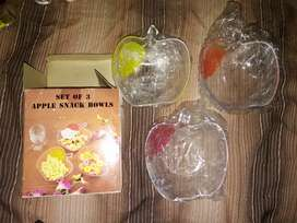 Bowls manzana x3
