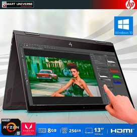 Laptop HP ENVY Tactil Ryzen 5 Vega 8, 13 Pulg, 8GB RAM, SSD