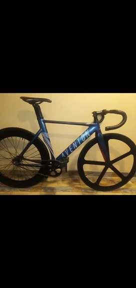 bicicleta aventon fixi aluminio tenedor carbono