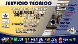 Mantenimientos, Instalaciones y Reparación de Estufas, Calentadores, Chimeneas, Horno; FUGAS DE GAS. Firma Vanti