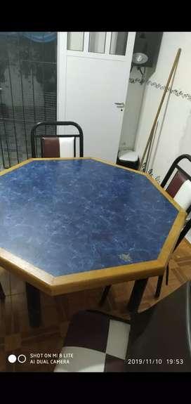 Mesa más 6 sillas