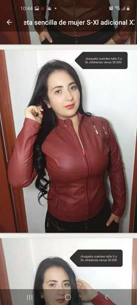Solicito satélite confección chaqueta  cuerina