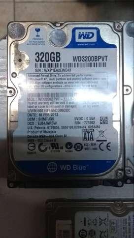 Vendo disco rígido WD 320 gb blue