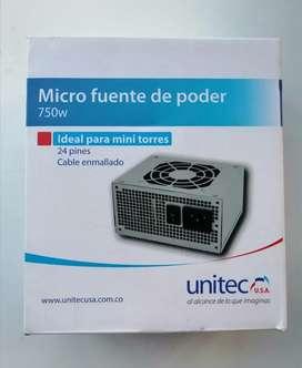 Micro Fuente De Poder 750w Unitec