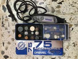 Se vende Dremel con accesorios