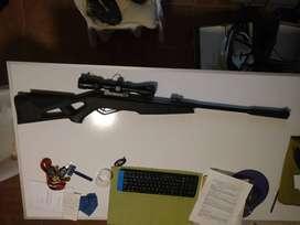 Vendo o permuto rifle de aire comprimido marca gamo 5.5 con mira.