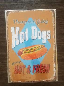 Hot Dogs - Cafe- Cup Cake - Placas.