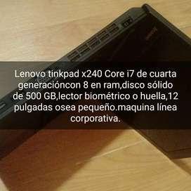 Lenovo X240 Core i7 con 8 en ram,de sólido 500gb