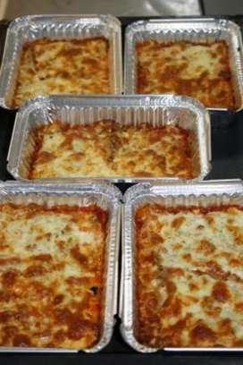 Lasagna mix salsa blanca y roja