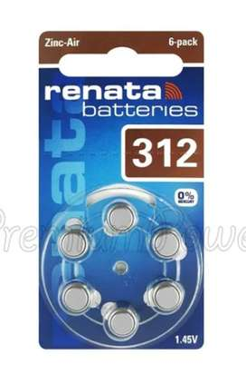 Batería Pila Renata Pr41 Tipo 312 1.45 V Original Pack X 6