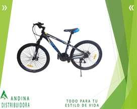 Bicicleta Gti Aro 24 Aluminio Montañera Frenos Disco 21 Vel.