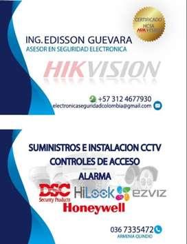 Instalación y mantenimiento de sistemas de video vigilancia (CCTV), controles de acceso y sistemas de alarma.