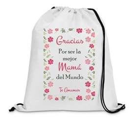 Tula Personalizada Día De La Madre 40x30 Cms X 12 Unidades