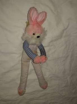peluche conejo liviano para bebe
