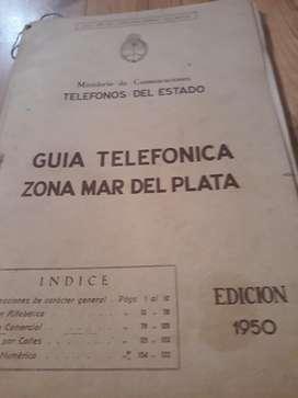 Guía Telefónica Zona Mdp 1950