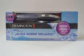 plancha remington alisa el cabello humedo