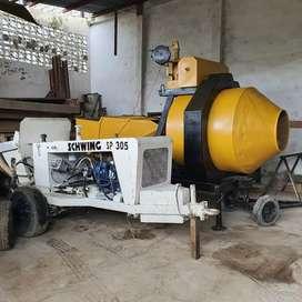 Concretera autocargable y bomba schwing sp305