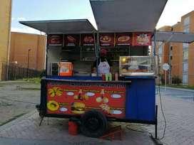 Se vende trailer de comidas rápidas