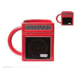 Mug Radio Rojo Cerámica