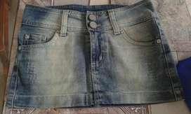 Pollera de Jeans Mini !