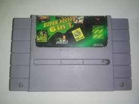 Multijuegos 6 En 1 cartucho Super Nintendo