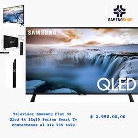 Televisor Samsung Flat 32 Qled 4k 32q50 Series Smart Tv