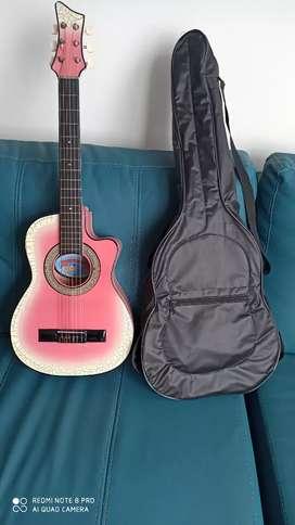 Guitarra para Niña de 5 a 10 años con estuche