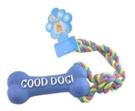 Juguete Perro Morder Cuerda Hueso Caucho Good Dog