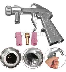 Pistola Profesional con 10 Boquillas Sandblasting Sandblaster Sandblast
