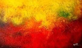 Obra de arte abstracta
