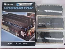 MEMORIAS DDR3 GAMER CORSAIR DOMINATOR 6 GIGAS